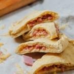 Ham and Cheddar Calzones Recipe