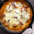 Cheesy Pizza Chicken in a Skillet Recipe