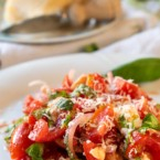 Herby Tomato Salad with Fresh Parmesan Recipe